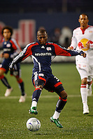 New England Revolution midfielder Sainey Nyassi (31). The New York Red Bulls  and the New England Revolution played to a 1-1 tie during a Major League Soccer match at Giants Stadium in East Rutherford, NJ, on March 28, 2009. Photo by Howard C. Smith/isiphotos.com