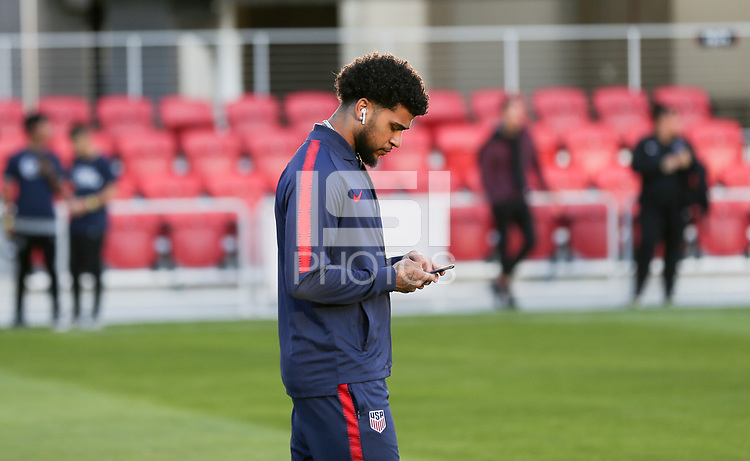 WASHINGTON D.C. - OCTOBER 11: DeAndre Yedlin #2 of the United States during warm ups prior to their Nations League game versus Cuba at Audi Field, on October 11, 2019 in Washington D.C.