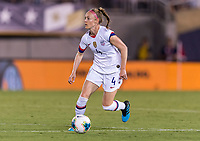 PASADENA, CA - AUGUST 4: Becky Sauerbrunn #4 dribbles during a game between Ireland and USWNT at Rose Bowl on August 3, 2019 in Pasadena, California.