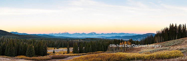 67545-08802 View of the Grand Teton Mountains from Togwotee Pass Overlook, WY