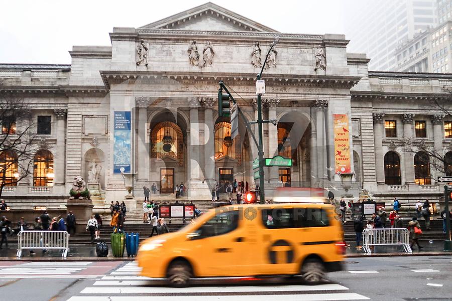 NOVA YORK, EUA, 21.12.2018 - TURISMO-EUA - Vista da Biblioteca Pública na ilha da Manhattan na cidade de Nova York nesta sexta-feira, 21.(Foto: William Volcov/Brazil Photo Press)