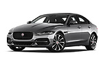 Stock pictures of low aggressive front three quarter view of a 2020 Jaguar XE S 4 Door Sedan