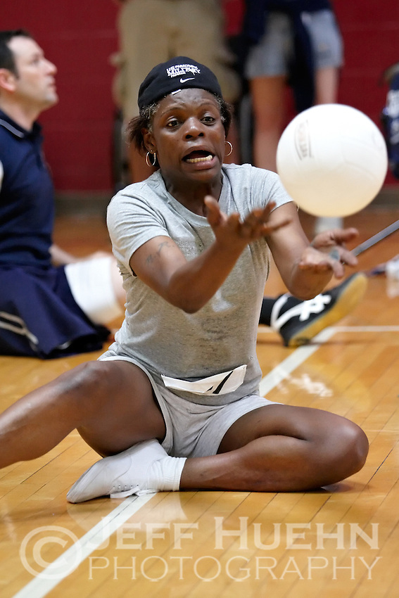 SAN ANTONIO , TX - SEPTEMBER 16, 2009: Day 1 of the United States Olympic Committee Paralympic Military Sports Camp at Fort Sam Houston's Jimmy Brought Fitness Center. (Photo by Jeff Huehn)