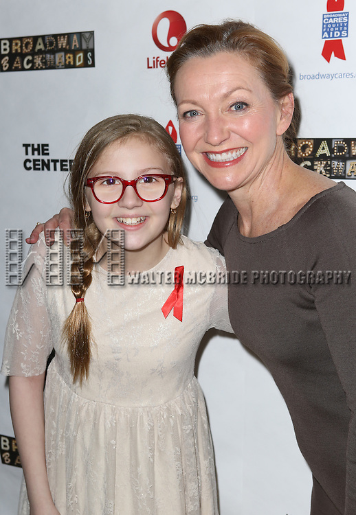 "Bebe Wood and Julie White attend the ""Broadway Backwards"" After Party Reception  at John's Restaurant on March 24, 2014 in New York City."