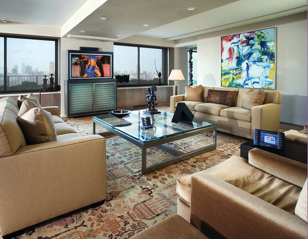Media Room with Pop-Up TV