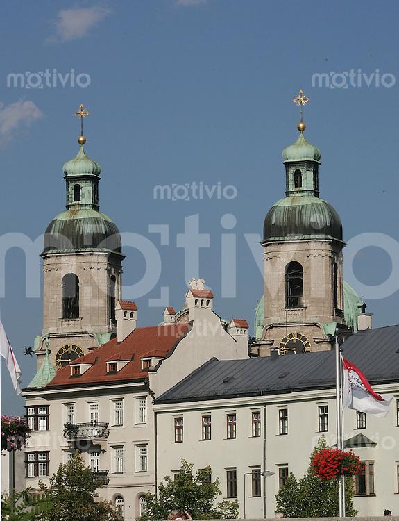 FEATURE, Fussball EM 2008, Vorschau, Innsbruck, 06.08.2007,Der Innsbrucker Dom St. Jakob, /Schaadfoto/Andreas Schaad PUBLICATION NOT IN AUT