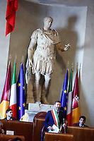 Ignazio Marino <br /> Roma 07-06-2015 Campidoglio. Lectio Magistralis dell'ex Presidente del Brasile.<br /> Lectio Magistrali of the former President of Brazil at Campidoglio.<br /> Photo Samantha Zucchi Insidefoto