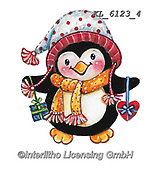 CHRISTMAS ANIMALS, WEIHNACHTEN TIERE, NAVIDAD ANIMALES, paintings+++++,KL6123/4,#xa# ,sticker,stickers