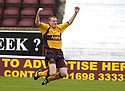 18/08/2007       Copyright Pic: James Stewart.File Name : sct_jspa03_motherwell_v_kilmarnock.DAVID CLARKSON CELEBRATES AFTER HE SCORES MOTHERWELL'S FIRST....James Stewart Photo Agency 19 Carronlea Drive, Falkirk. FK2 8DN      Vat Reg No. 607 6932 25.Office     : +44 (0)1324 570906     .Mobile   : +44 (0)7721 416997.Fax         : +44 (0)1324 570906.E-mail  :  jim@jspa.co.uk.If you require further information then contact Jim Stewart on any of the numbers above........