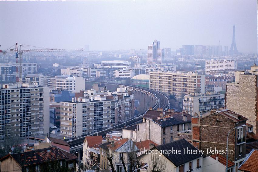 1995-1999; Issy les Moulineaux; Les Arches depuis la rue d'Erevan
