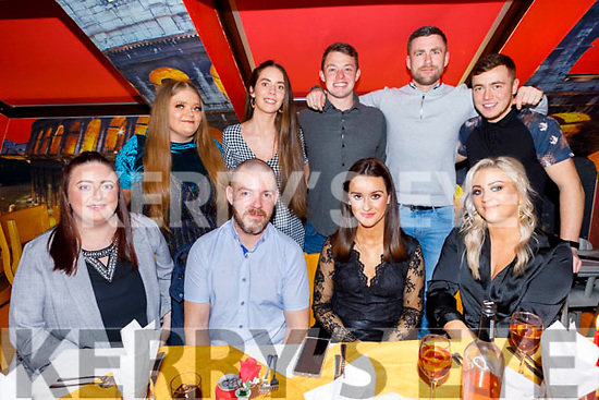 Enjoying New Years Eve in Ristorante Uno.<br /> Seated l to r: Megan Lynch, Gavin Leen, Eimear Galvin and Kayleigh Muntzer. <br /> Back l to r: Sinead Lynch, Pauline Parker, Maurice Kelter, Declan Clifford and John Leen.