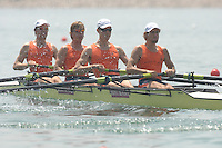 Beijing, CHINA, NED JM4-, Bow, Bob van VELSEN, Govert VIERGEVER, Frank van der PLOEG and Timo VAN WITTMARSCHEN, during the  2007. FISA Junior World Rowing Championships Shunyi Water Sports Complex. Wed. 08.08.2007  [Photo, Peter Spurrier/Intersport-images]..... , Rowing Course, Shun Yi Water Complex, Beijing, CHINA,