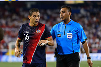 Harrison, NJ - Friday July 07, 2017: Christian Gamboa, Walter Lopez during a 2017 CONCACAF Gold Cup Group A match between the men's national teams of Honduras (HON) vs Costa Rica (CRC) at Red Bull Arena.