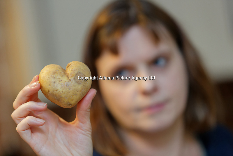 A potato in the shape of a heart. Wednesday 02 January 2019