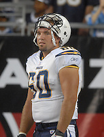 Aug 25, 2007; Glendale, AZ, USA; San Diego Chargers center (60) Mark Bihl against the Arizona Cardinals at University of Phoenix Stadium. San Diego defeated Arizona 33-31. Mandatory Credit: Mark J. Rebilas-US PRESSWIRE