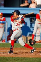 August 6, 2009:  Scott Grimes of the Brooklyn Cyclones during a game at Dwyer Stadium in Batavia, NY.  The Cyclones are the Short-Season Class-A affiliate of the New York Mets.  Photo By Mike Janes/Four Seam Images