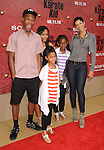 "WESTWOOD, CA. - June 07: Nicole Murphy (R) and children arrives at ""The Karate Kid"" Los Angeles Premiere at Mann Village Theatre on June 7, 2010 in Westwood, California."