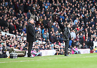Barclays Premier League, West Ham United (red)V Swansea City Fc (white), Boelyn Ground, 02/02/13<br /> Pictured: Sam Allardyce and Michael Laudrup<br /> Picture by: Ben Wyeth / Athena Picture Agency<br /> info@athena-pictures.com