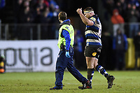 Henry Thomas of Bath Rugby leaves the field injured. Aviva Premiership match, between Bath Rugby and Exeter Chiefs on March 23, 2018 at the Recreation Ground in Bath, England. Photo by: Patrick Khachfe / Onside Images