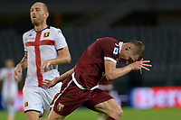 16th July 2020; Olympic Grande Torino Stadium, Turin, Piedmont, Italy; Serie A Football, Torino versus Genoa; Andrea Belotti of Torino FC celebrates after scoring the goal for 3-0 for Torino in the 90th minute