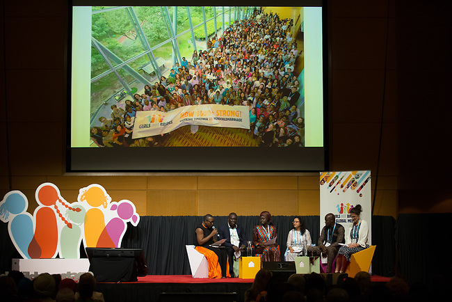 27 June, 2018, Kuala Lumpur, Malaysia : A panel discusses the outcomes during the closing address following the completion of the Girls Not Brides Global Meeting 2018 at the Kuala Lumpur Convention Centre. Picture by Graham Crouch/Girls Not Brides