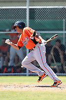 Baltimore Orioles minor league shortstop Manny Machado #3 at bat during a spring training game vs the Boston Red Sox at the Buck O'Neil Complex in Sarasota, Florida;  March 22, 2011.  Photo By Mike Janes/Four Seam Images
