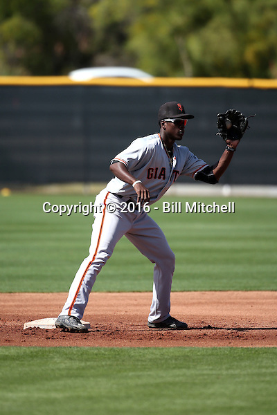Lucius Fox - San Francisco Giants 2016 spring training (Bill Mitchell)