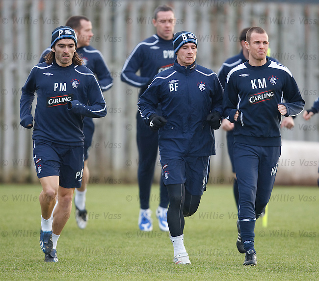 Pedro Mendes, Barry Ferguson and Kenny Miller