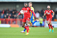 Andre Blackman of Crawley Town (14)  during the Sky Bet League 2 match between Crawley Town and Accrington Stanley at Broadfield Stadium, Crawley, England on 22 October 2016. Photo by Edward Thomas / PRiME Media Images.