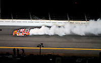 Feb 07, 2009; Daytona Beach, FL, USA; NASCAR Sprint Cup Series driver Reed Sorenson blows an engine during the Bud Shootout at Daytona International Speedway. Mandatory Credit: Mark J. Rebilas-