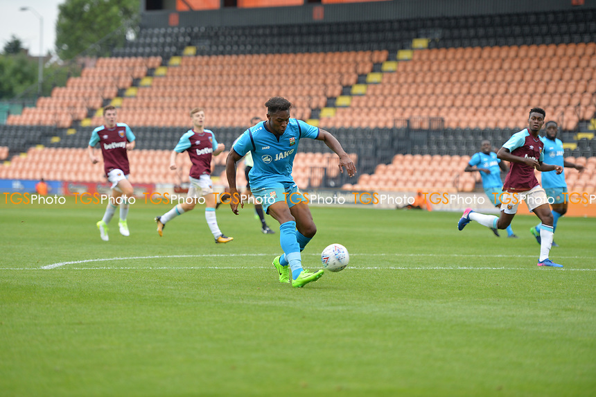 barnet scorer jean-louie aka akpro during Barnet vs West Ham United, Friendly Match Football at the Hive Stadium on 15th July 2017