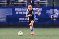 Allston, MA - Saturday, May 07, 2016: Chicago Red Stars midfielder Alyssa Mautz (4) during a regular season National Women's Soccer League (NWSL) match at Jordan Field.