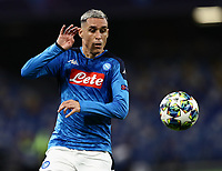 5th November 2019; Stadio San Paolo, Naples, Campania, Italy; UEFA Champions League Group Stage Football, Napoli versus Red Bull Salzburg; Jose Maria Callejon of Napoli tries to control a difficult ball - Editorial Use