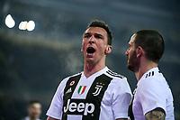 Mario Mandzukic of Juventus celebrates after scoring the victory goal <br /> Torino 15-12-2018 Stadio Olimpico Football Calcio Serie A 2018/2019 Torino - Juventus <br /> Foto Federico Tardito / OnePlusNine / Insidefoto
