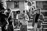 Director William Friedkin spinning a basketball on his finger while on the set of the feature film 'Killer Joe' in New Orleans, LA.
