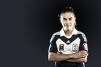 Enza Barilla is a versatile attacker who can play on the wings as well as through the middle for Melbourne Victory. The fleet footed forward has been a part of the team since the inaugural side first appeared in the W-League and brings invaluable experience to the outfit. //  The 21 year old was co-captain of Victorian state league side Bundoora United in the WPL and led her team to the brink of success in both the Pelada Cup and the Grand Final series in 2012. //  (Copyright Photo Sydney Low. Text Zee Ko)