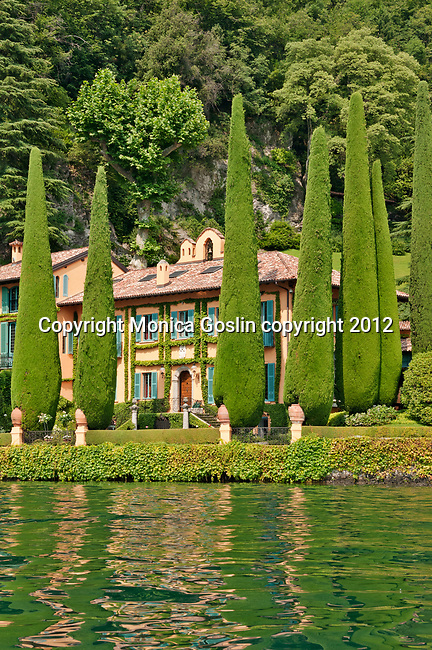 Villa Cassinella, located near the town of Lenno, on Lake Como, Italy