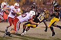08 October 2009: Nebraska tight end Ryan Hill makes the tackle on a punt return to Missouri defensive back Carl Gettis at at Memorial Stadium, Columbia, Missouri. Nebraska defeated Missouri 27 to 12.