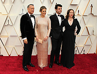 09 February 2020 - Hollywood, California - om Hanks, Rita Wilson, Truman Theodore Hanks, and Elizabeth Hanks. 92nd Annual Academy Awards presented by the Academy of Motion Picture Arts and Sciences held at Hollywood & Highland Center. Photo Credit: AdMedia