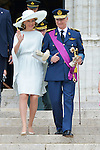 Queen Mathilde and King Philippe after the Te Deum mass, on the occasion of today's Belgian National Day, at the Saint Michael and St Gudula Cathedral<br /> Brussels, 21 July 2015, Belgium
