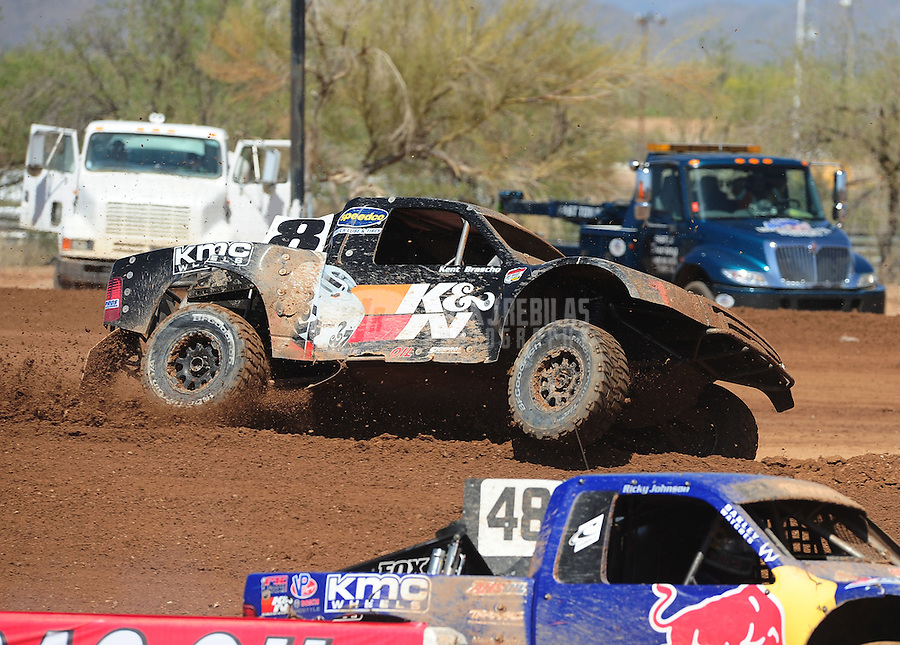 Apr 17, 2011; Surprise, AZ USA; LOORRS driver Kent Brascho during round 4 at Speedworld Off Road Park. Mandatory Credit: Mark J. Rebilas-