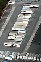 aerial photograph FedEx, Oakland, California