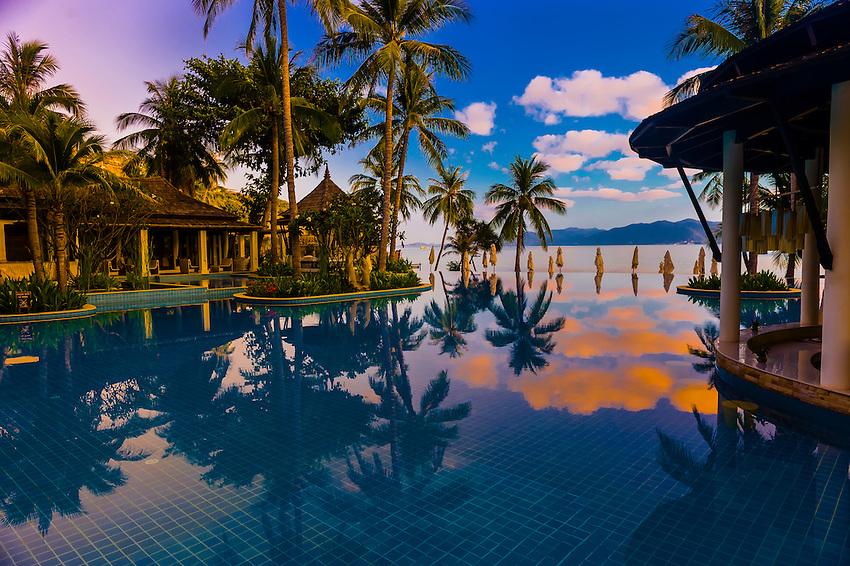 Sunrise, Melati Beach Resort and Spa, Koh Samui (island), Gulf of Thailand, Thailand