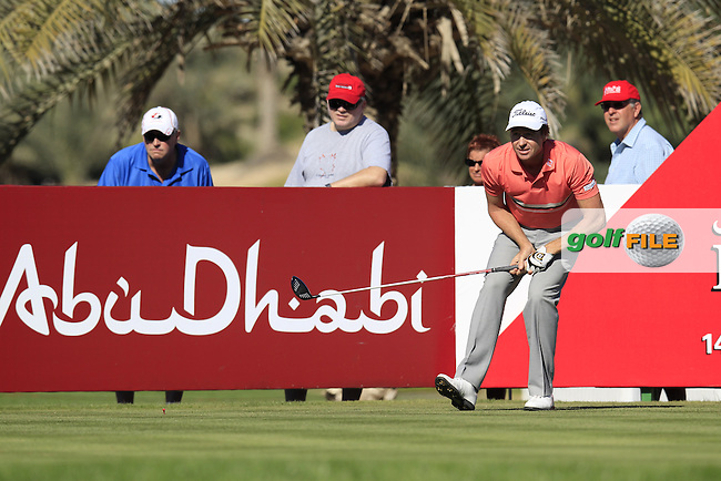 Brett Rumford (AUS) tees off the 14th tee during Friday's Round 2 of the Abu Dhabi HSBC Golf Championship at Abu Dhabi Golf Club, 18th January 2013 (Photo Eoin Clarke/www.golffile.ie)