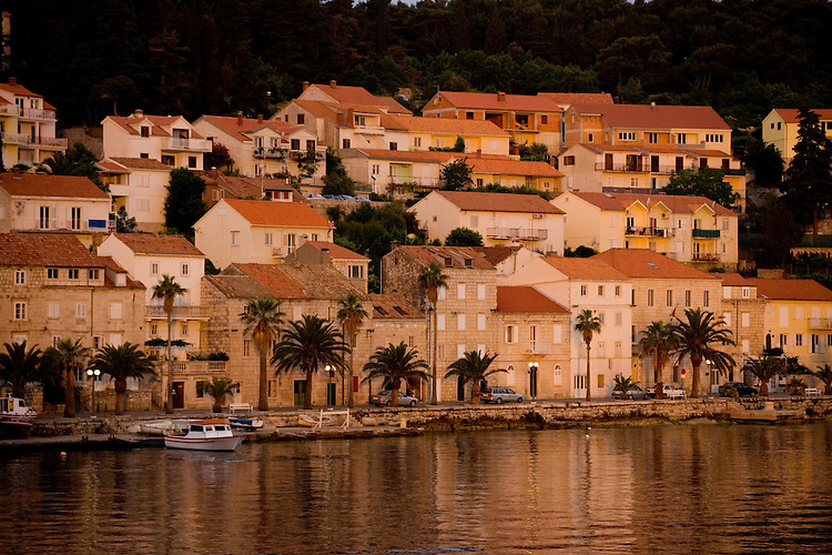 The island town of Korcula in Croatia, boasts of an atmospheric Old Town and a serene harbor.