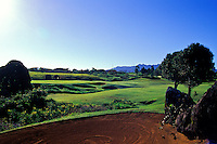 Hole No. 10 of the Princeville Prince golf course, the architect of which is Robert Trent Jones II, on Kauai