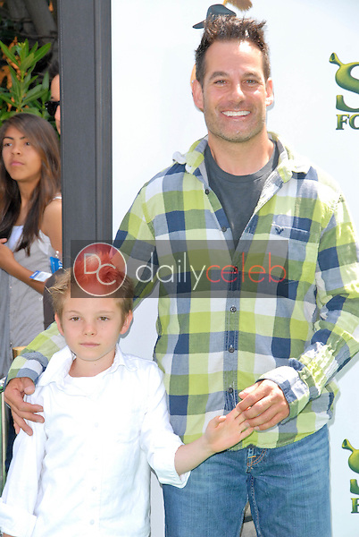 Adrian Pasdar and son Slade<br />