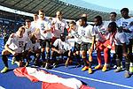 12.05.2018, OLympiastadion, Berlin, GER, 1.FBL, Hertha BSC VS. RB Leipzig, im Bild <br /> Leipziger Spieler bei Ihren Fan<br /> <br />       <br /> Foto &copy; nordphoto / Engler