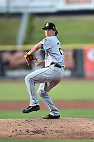 Jackson Generals starting pitcher Andrew Moore (25) delivers a pitch during a game against the Tennessee Smokies at Smokies Stadium on July 5, 2016 in Kodak, Tennessee. The Generals defeated the Smokies 6-4. (Tony Farlow/Four Seam Images)