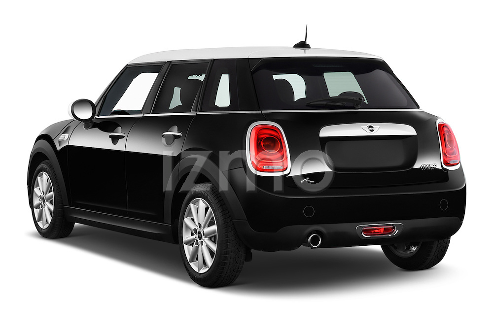 Car pictures of rear three quarter view of a 2015 MINI Mini Cooper 5 Door Hatchback 2WD Angular Rear
